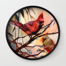 Cardinal Love Wall Clock