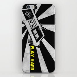 PLAY HARD iPhone Skin