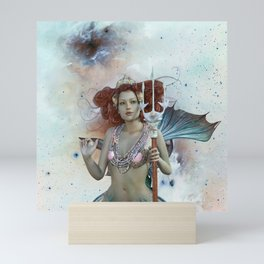 Space Siren: Mermaids of the Sky Mini Art Print