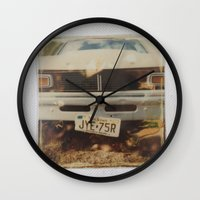 ford Wall Clocks featuring Ford by Michael Shepherd
