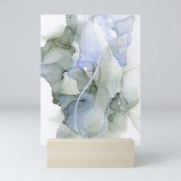 Serenity, Gray Blue Flow Mini Art Print