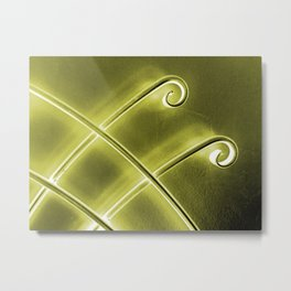 Papillon d'or Metal Print
