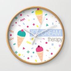 Ice Cream Therapy Wall Clock