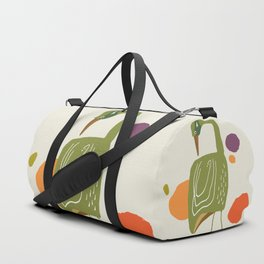Quirky Brolga Duffle Bag