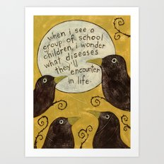 Overheard - Diseases Art Print