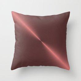 Metalic Pink Rose Gold Machined Metal Throw Pillow