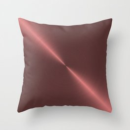 Metalic Pink Rose Gold Machined Metal Throw Pillow