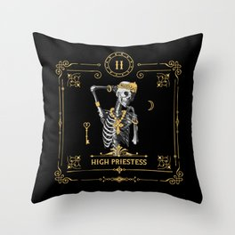 High Priestess II Tarot Card Throw Pillow