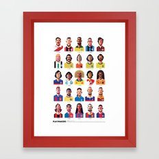 Playmakers Framed Art Print