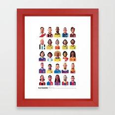 Playmakers Framed Art Print