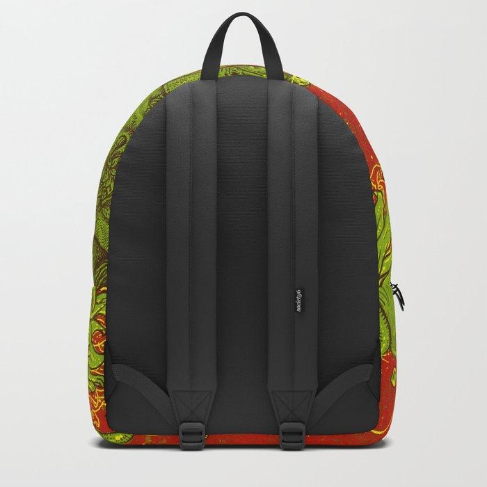 Sunflower green & Red Sky Backpack