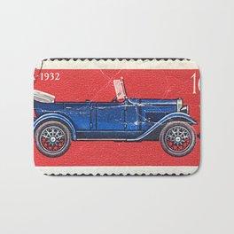 Postage stamp printed in Soviet Union shows vintage car Bath Mat