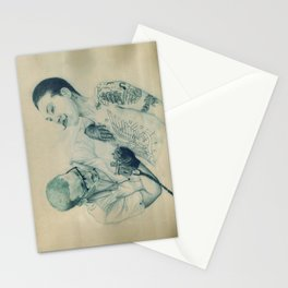 Tattoo moustache  Stationery Cards