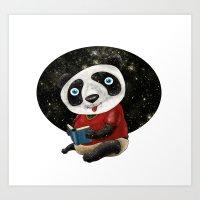 red panda Art Prints featuring Panda by gunberk