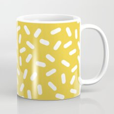 Somethin' Somethin' - yellow bright happy sprinkles pills dash pattern rad minimal prints Mug