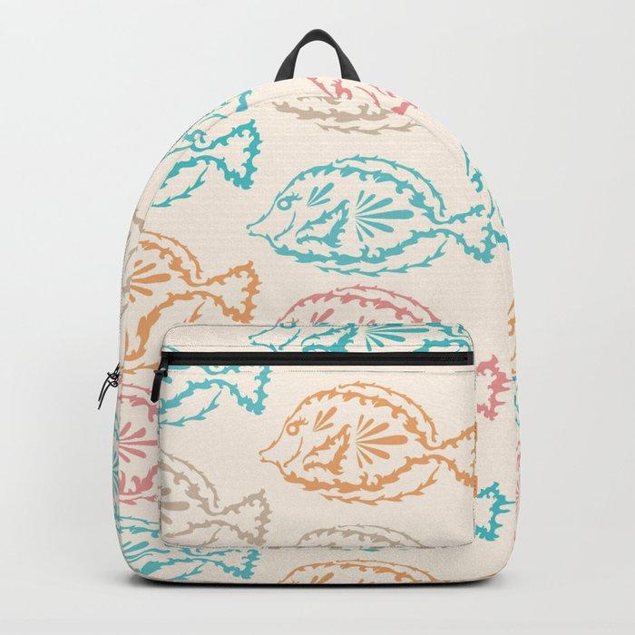 Pastel Marine Pattern 03 Backpack