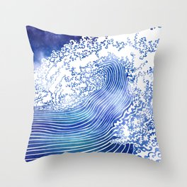 Pacific Waves II Throw Pillow