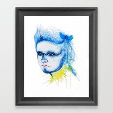 Metamorphosis-Blue Tit Framed Art Print