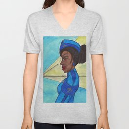 Follow me into the Blue- II Unisex V-Neck