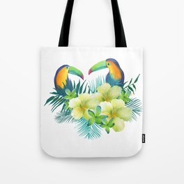 Tropical toucans Tote Bag