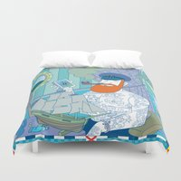 captain silva Duvet Covers featuring captain by bbay