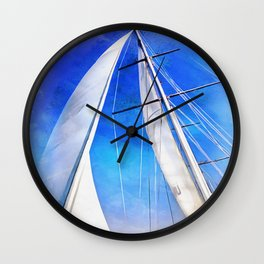 Sailing Unties The Knots Of My Mind Wall Clock