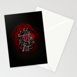 And though she be but little she is fierce (Gothic Rose) Stationery Cards