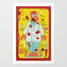 Dr. Zoidberg's Useless Organs  Art Print