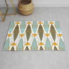 Fish textile pattern Rug