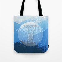 woody Tote Bags featuring WOODY by Kath Korth