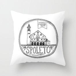 Cattedrale di Santa Maria Assunta, Spoleto Throw Pillow