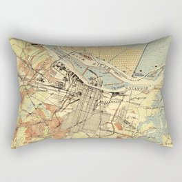Vintage Map of Savannah Georgia (1942) Rectangular Pillow
