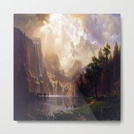 Albert Bierstadt Among the Sierra Nevada Metal Print