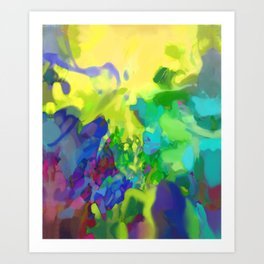 Yellow Lyrical Abstraction  Art Print
