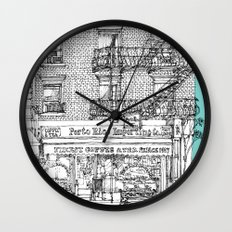 PORTO RICO IMPORT CO, NYC Wall Clock