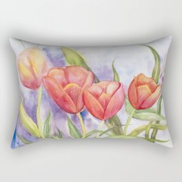 Diane L - Les tulipes Rectangular Pillow