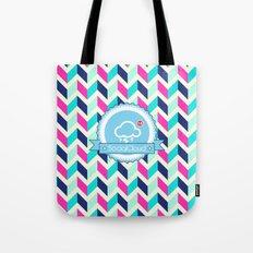 SocialCloud Pattern Tote Bag
