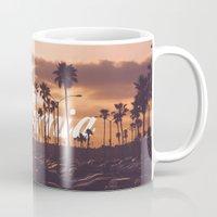 california Mugs featuring California by thecrazythewzrd