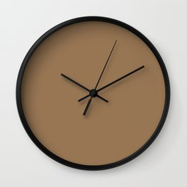 Pale Brown - solid color Wall Clock