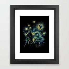 Death Starry Night Framed Art Print