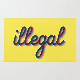 Illegal - yellow version Rug