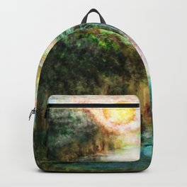 Waterfall painting 1 Backpack