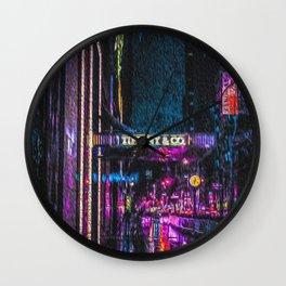 Midnight at Tiffany Wall Clock