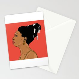 Nina Simone - with colors Stationery Cards