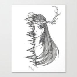 Forest Maiden Canvas Print