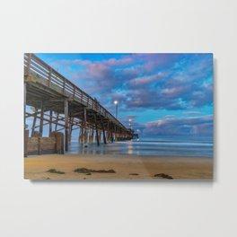 Dawn Long Exposure at Newport Pier Metal Print