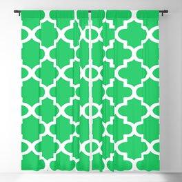Arabesque Architecture Pattern In Zen Green Blackout Curtain