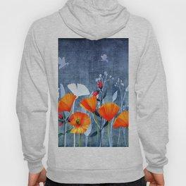Summer night- Shadow of a Poppy meadow- Flowers Hoody