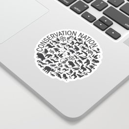 A Circle of Animals Sticker