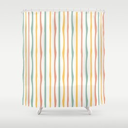 Stripes Stripped Pattern Muted Duschvorhang